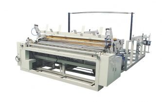 Automatic trimming, sealing, rewinding and punching machine